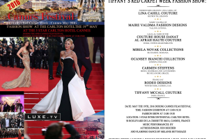 Invitation for Tiffany's Red Carpet Week Cannes May the 19th