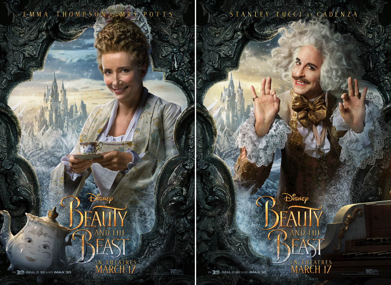 1280 Beauty And The Beast Poster Emma Thompson Stanley Tucci