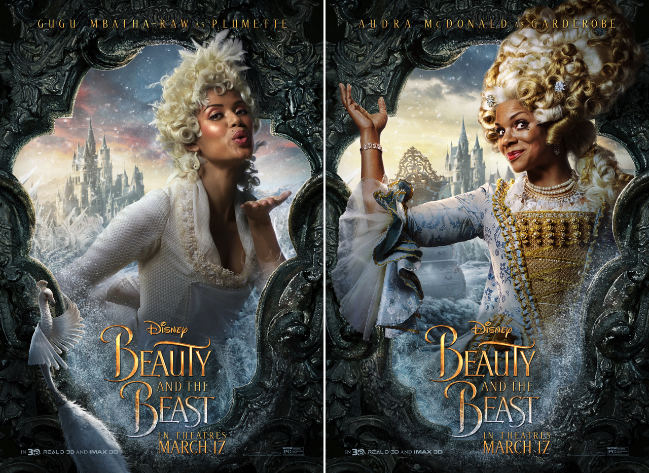 1280 Beauty And The Beast Poster Gugu Mbatha Audra Macdonald Photo Walt Disney Pictures